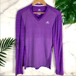 🌴ADIDAS Top | Purple Athletic Long Sleeve Top M